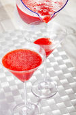 Strawberry Daiquiri Cocktails — Stock Photo
