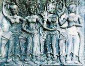 Apsara carving, Angkor wat, Cambodia — Stock Photo