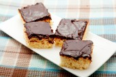 Coconut cakes with chocolate — Stock Photo