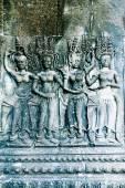Apsara carving, Angkor wat — Stock Photo