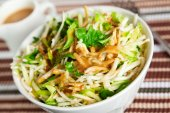 Celery salad with zucchini — Stockfoto