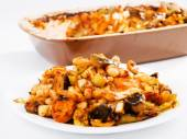 Beans with vegetables casserole — Stock Photo