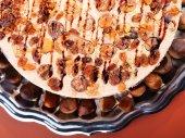 Chestnut and raisins tiramisu — Stock Photo