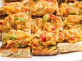 Sandwiches with vegetables close-up — Stock Photo