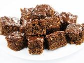 Chocolate cake close-up — Stock Photo