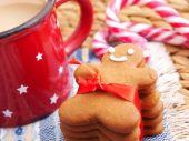 Homemade gingerbread man — Stock Photo