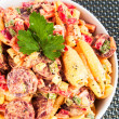 Pasta with sausage and tomato — Stock Photo #63380639