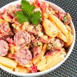 Pasta with sausage and tomato — Stock Photo #63380651