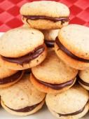 Homemade Cookies with chocolate — Stock Photo