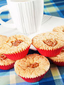Sweet Cupcakes with cup of coffee — 图库照片