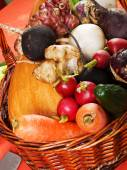 Root vegetables for carving — Stock Photo