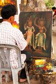 柬埔寨的画家吴哥窟 — 图库照片