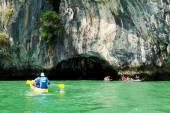 Kayaking in Pang Nga Bay, Thailand — Stock Photo