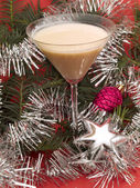 Banana Snowman Cocktail — Stock Photo