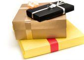 Three lovely presents — Stock Photo