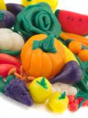 Many Vegetables made of clay — Stock Photo