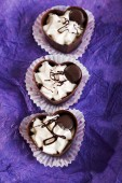 Heartshaped chocolate candies — Foto de Stock