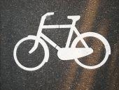 Sinal de pista de bicicleta — Fotografia Stock