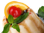Gelatin Fruit Dessert — Stock Photo