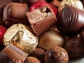 Chocolate candies close-up — Stok fotoğraf