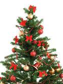 Christmas tree on white — Stock Photo