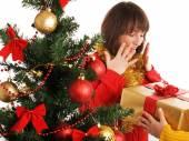 Women with Christmas presents — Foto de Stock