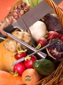 Raw vegetables for carving — Stock Photo