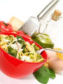 Pasta Collection - Tagliatelle with brocolli — Stock Photo