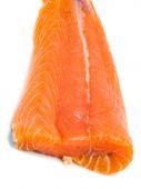 Salmon Steak on white — Stock Photo