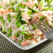 Rice salad with salmon — Stock Photo #63744863