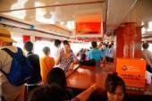 Crossing Chao Phraya River, Bangkok — Stock Photo