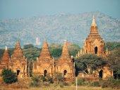 Pagodes anciennes à bagan, myanmar — Photo