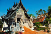 Naga starway at Wat Chedi Luang — Stock Photo