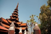 Bagaya Kyaung Teak Monastery — Stock Photo