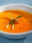 Salmon cream soup — Stock Photo