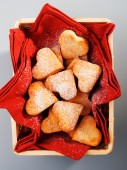 Handmade heartshape cookies — Stock Photo