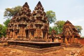 Cambodian temple Banteay Srei — Stock Photo