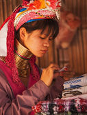 Long neck woman in Thailand — Stock Photo