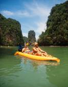 Kayaking in Pang Nga Bay — Stock Photo