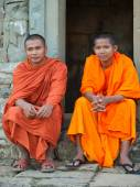Monks in Angkor Wat, Cambodia — Stock Photo