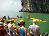 Kayaking in Pang Nga Bay — Foto de Stock