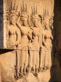 Apsara carving, Angkor wat — ストック写真