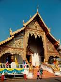Worshiping Buddha, Thailand — Stock Photo