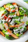 Chicken salad with zucchini — Stock Photo