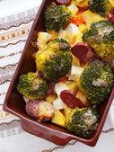 Brocolli and potato casserole — Stock Photo