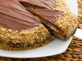 Chocolate cake with coffee cream — Stock Photo
