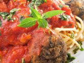 Collection - Spaghetti with meatballs — Stock Photo