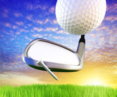 Golf concept. Just place your logo to the iron. — Stock Photo