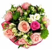 Bouquet di rose e crisantemi — Foto Stock