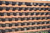 Rust iron i beam type for railway construction — Stock Photo